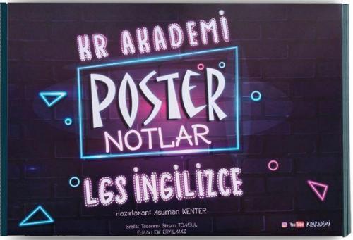 KR Akademi 8. Sınıf LGS İngilizce Poster Notlar