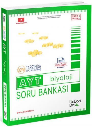 ÜçDörtBeş Yayınları AYT Biyoloji Konu Özetli Soru Bankası