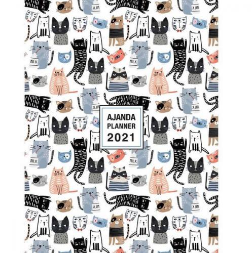 Akademi Çocuk - 2021 Haftalık Ajanda Fat Cats 16x21 cm