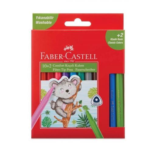 Faber-Castell Comfort 10+2 Hediye Keçeli Kalem