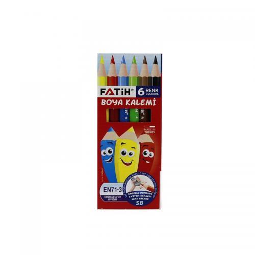 Fatih 6 Renk Yarım Boy Kuru Boya 33006