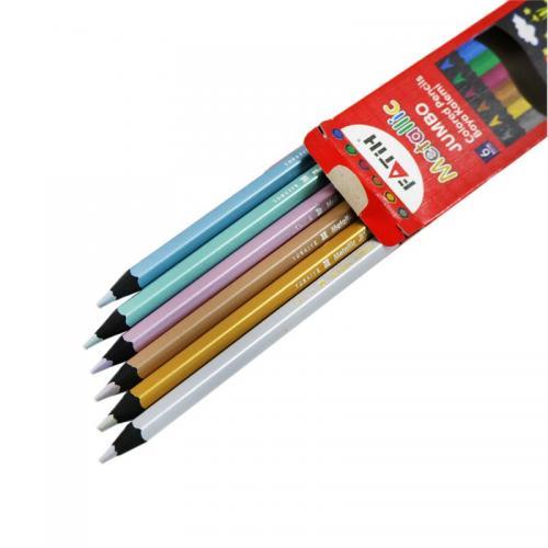 Fatih 6 Renk Jumbo Metalik Kuruboya Kalemi 33360