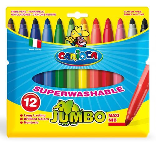 Carioca Jumbo Yıkanabilir Keçeli Boya Kalemi 12'li