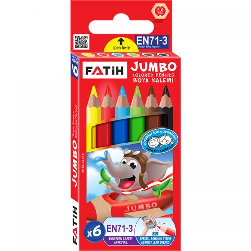 Fatih 6 Renk Jumbo Yarım Boy Kuru Boya 33310