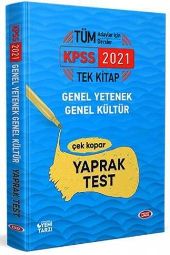 Data Yayınları 2021 KPSS Genel Yetenek Genel Kültür Çek Kopar Yaprak