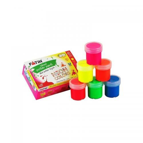 Fatih 6 Renk Neon Guaj Boya 25 Ml 50430