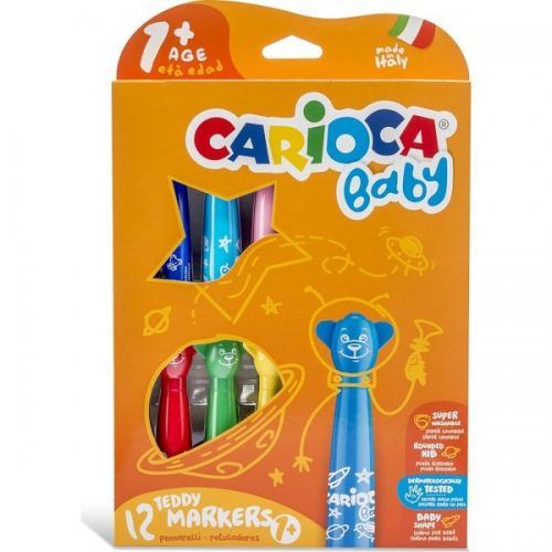 Carioca Keçeli Boya Teddy Jumbo Bebek S.Yıkan.12Li