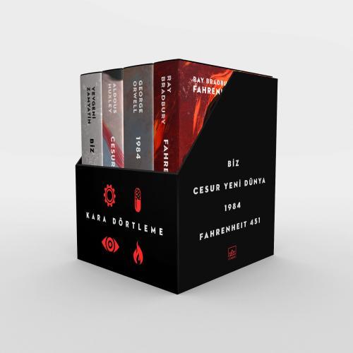 Kara Dörtleme Kutu Set: Biz, Cesur Yeni Dünya, 1984, Fahrenheit 451