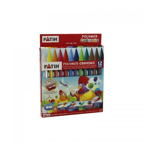 Fatih 12 Renk Wax Crayons Uzun Mum Boya 50220