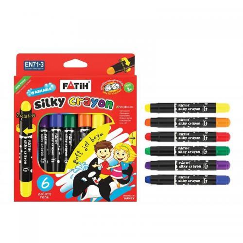 Fatih 6 Renk Jel Silky Crayon Çevirmeli Boya 50250