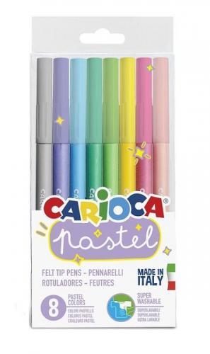 Carioca Pastel Renkler Süper Yıkanabilir Keçeli Boya Kalemi 8li