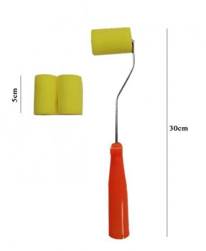 Rich Sünger Rulo Fırça Metal Saplı 5cm + 2 Sünger Yedek