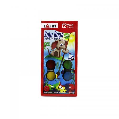 Fatih 12 Renk Sulu Boya S-12 Bıg Sıze 904