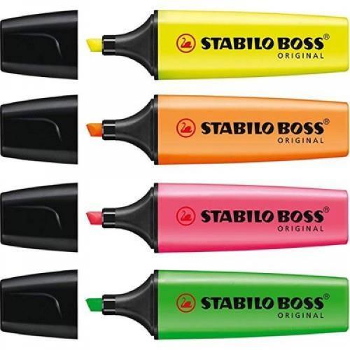 Stabilo Boss Orıgınal 4'lü Paket Fosforlu Kalem