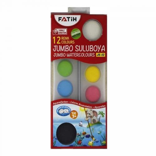 Fatih 12 Renk Jumbo Sulu Boya 50035
