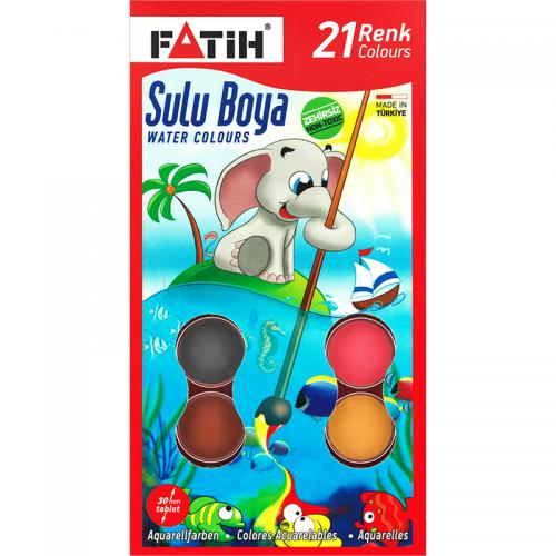 Fatih 21 Renk Sulu Boya K-21 Yeni 907