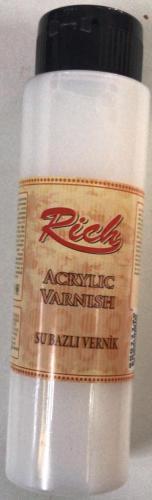 Rich Acrylic 500 cc Su Bazlı Parlak Vernik