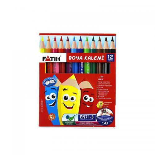 Fatih 12 Renk 1/2 Yarım Boy Kuru Boya 33012