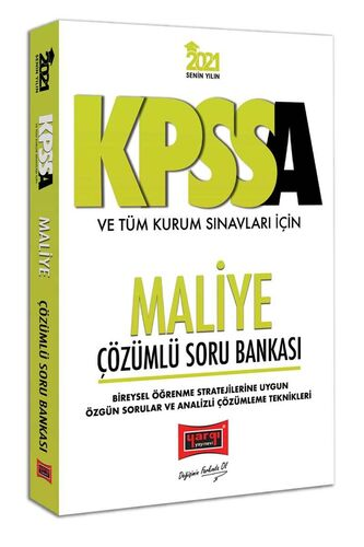 Yargı Yayınları 2021 KPSS A Grubu ve Tüm Kurum Sınavları İçin Maliye Ç