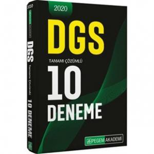 2020 DGS Tamamı Çözümlü 10 Deneme Pegem Akademi