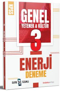 2021 KPSS Genel Yetenek Genel Kültür Enerji 3 Deneme Dijital Çözümlü İndeks Kitap *