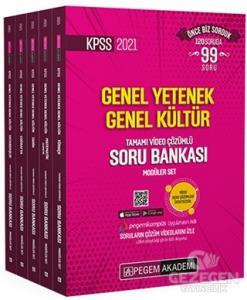 2021 KPSS Genel Yetenek Genel Kültür Tamamı Video Çözümlü Soru Bankası Modüler Set - 5 Kitap |Pegem Akademi Yayıncılık