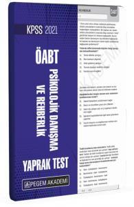 2021 KPSS ÖABT Psikolojik Danışma ve Rehberlik Yaprak Test