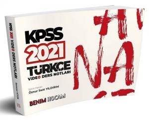 Benim Hocam 2021 KPSS Türkçe Video Ders Notları - Öznur Saat Yıldırım Benim Hocam Yayınları
