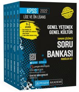 2022 KPSS Lise ve Önlisans Genel Yetenek Genel Kültür Tamamı Çözümlü Soru Bankası Seti |Pegem Akademi Yayıncılık