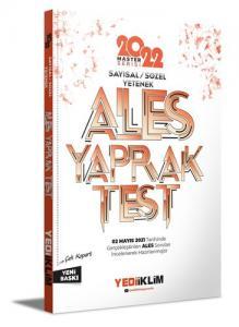 2022 Master Serisi Ales Sayısal-Sözel Yetenek Çek Kopart Yaprak Test | Yediiklim Yayınları