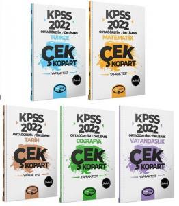 2022 KPSS Ortaöğretim Lise Ön Lisans GYGK Çek Kopart Yaprak Test 5 li Set | Yediiklim Yayınları