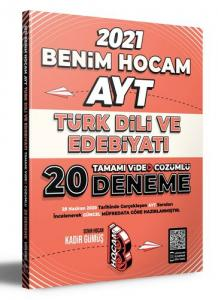 Benim Hocam Yayınları 2021 AYT Türk Dili ve Edebiyatı Tamamı Video Çözümlü 20 Deneme Sınavı
