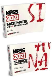 Benim Hocam 2021 KPSS Türkçe+Matematik Video Ders Notları 2 li Set Benim Hocam Yayınları
