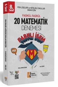 İsem  LGS Farklı İsem 8. Sınıf Matematik 20 Deneme İsem Yayıncılık