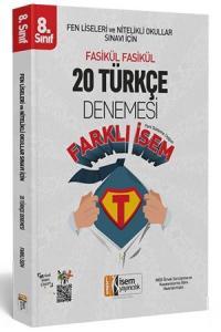 İsem  LGS Farklı İsem 8. Sınıf Türkçe 20 Deneme İsem Yayıncılık