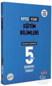 KPSS Eğitim Bilimleri Tamamı Çözümlü 5 Deneme Sınavı