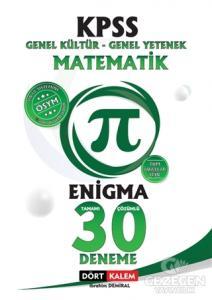 KPSS Enigma Matematik Tamamı Çözümlü 30 Deneme