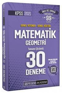 Pegem 2021 KPSS Matematik-Geometri 30 Deneme Çözümlü Pegem Akademi Yayınları