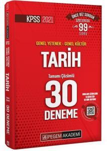 Pegem 2021 KPSS Tarih 30 Deneme Çözümlü Pegem Akademi Yayınları