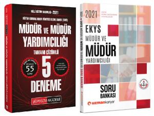 Pegem 2021 MEB EKYS Müdür ve Yardımcılığı 5 Deneme + Uzman Kariyer Soru Bankası 2 li Set Pegem + Uzman Kariyer Yayınları *