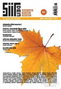 Şiirden İki Aylık Şiir Dergisi Sayı: 61 Eylül - Ekim 2020