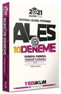 Yediiklim Yayınları 2021 Master Serisi ALES Sayısal-Sözel Yetenek Tamamı Çözümlü 10 Fasikül Deneme