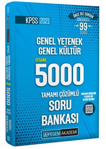 2021 KPSS Genel Yetenek Genel Kültür Efsane 5000 Soru Bankası