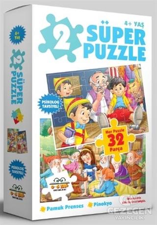 2 Süper Puzzle / Pamuk Prenses - Pinokyo 4+ Yaş