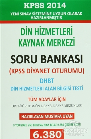 2014 KPSS Din Hizmetleri Alan Bilgisi Testi Dhbt Mbsts Soru Bankası