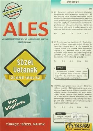 2016 ALES Sözel Yetenek Çek Kopart Yaprak Test | Tasarı Yayıncılık