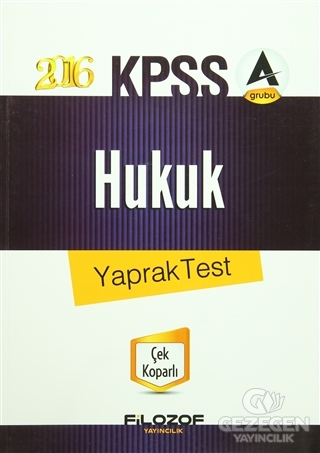 2016 KPSS Hukuk Yaprak Test