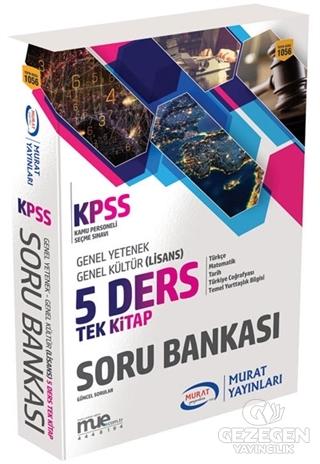 2018 KPSS Genel Yetenek Genel Kültür 5 Ders Tek Kitap Soru Bankası