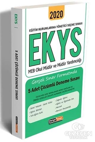 2020 EKYS MEB Okul Müdür ve Müdür Yardımcılığı Gerçek Sınav Formatında 5 Adet Çözümlü Deneme Sınavı