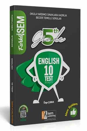 2021 Farklı İsem 5. Sınıf İngilizce Tamamı Çözümlü 10 Fasikül Deneme İsem Yayıncılık